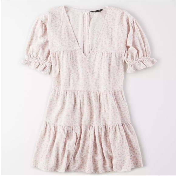 American Eagle Floral Pink Babydoll Dress NEW